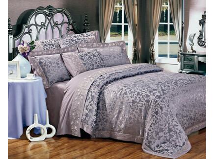 Комплект постельного белья (евро) (asabella) фиолетовый 200x220 см.