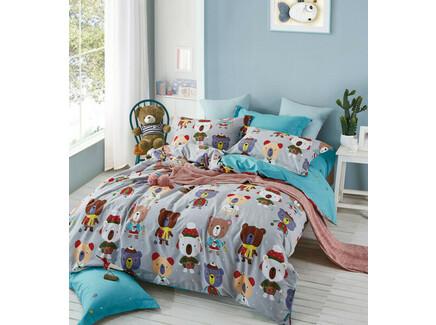 Комплект постельного белья (полутороспальный) (asabella) серый 145x205 см.