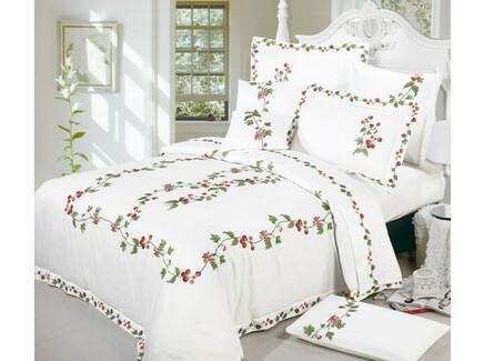 Комплект постельного белья (евро) (asabella) белый 200x220 см.