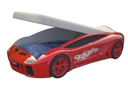 Кровать-машина карлсон ламба next (magic cars) красный 105x49x174 см.