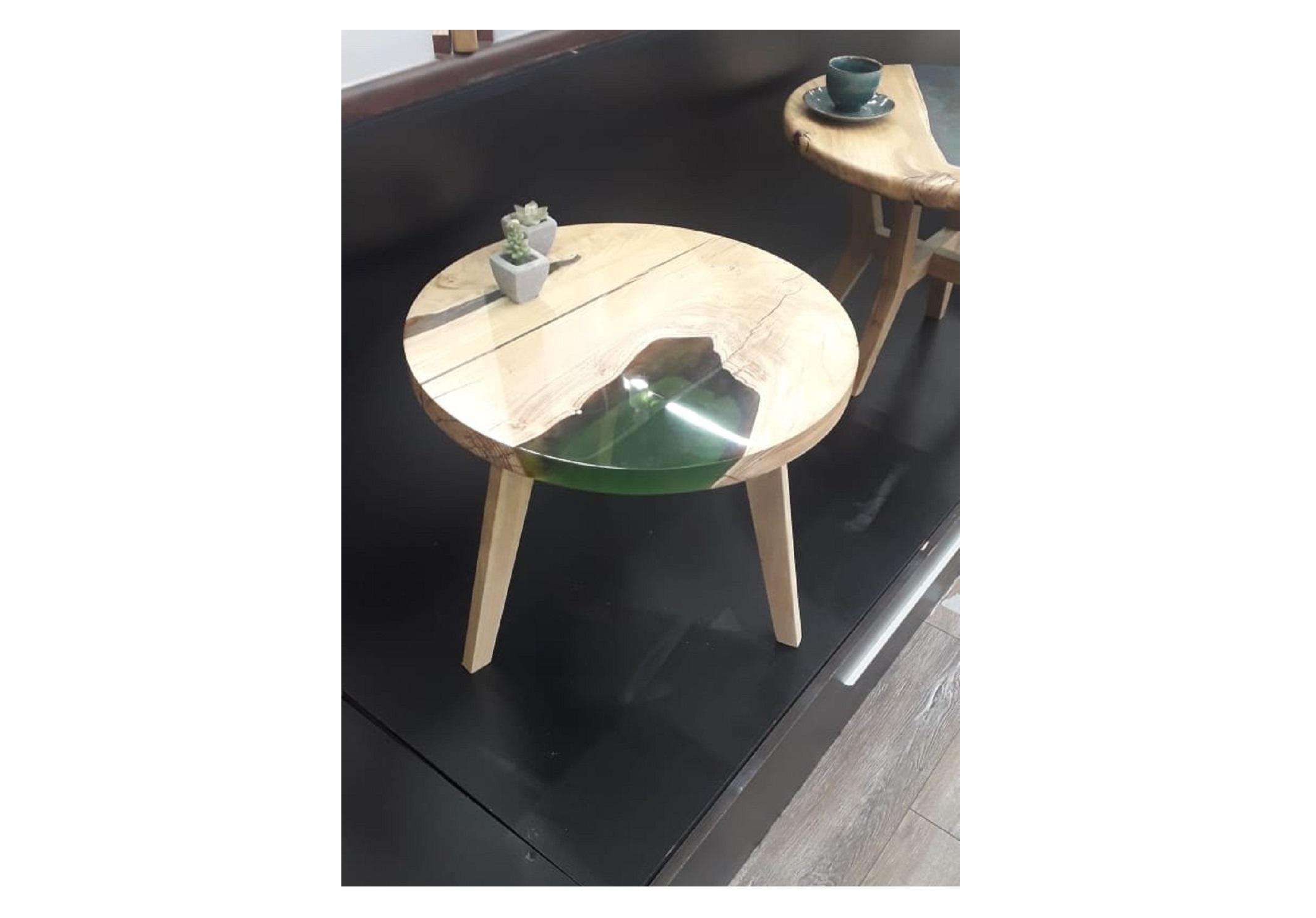 Журнальный стол (woodzpro) бежевый 50x45 см.