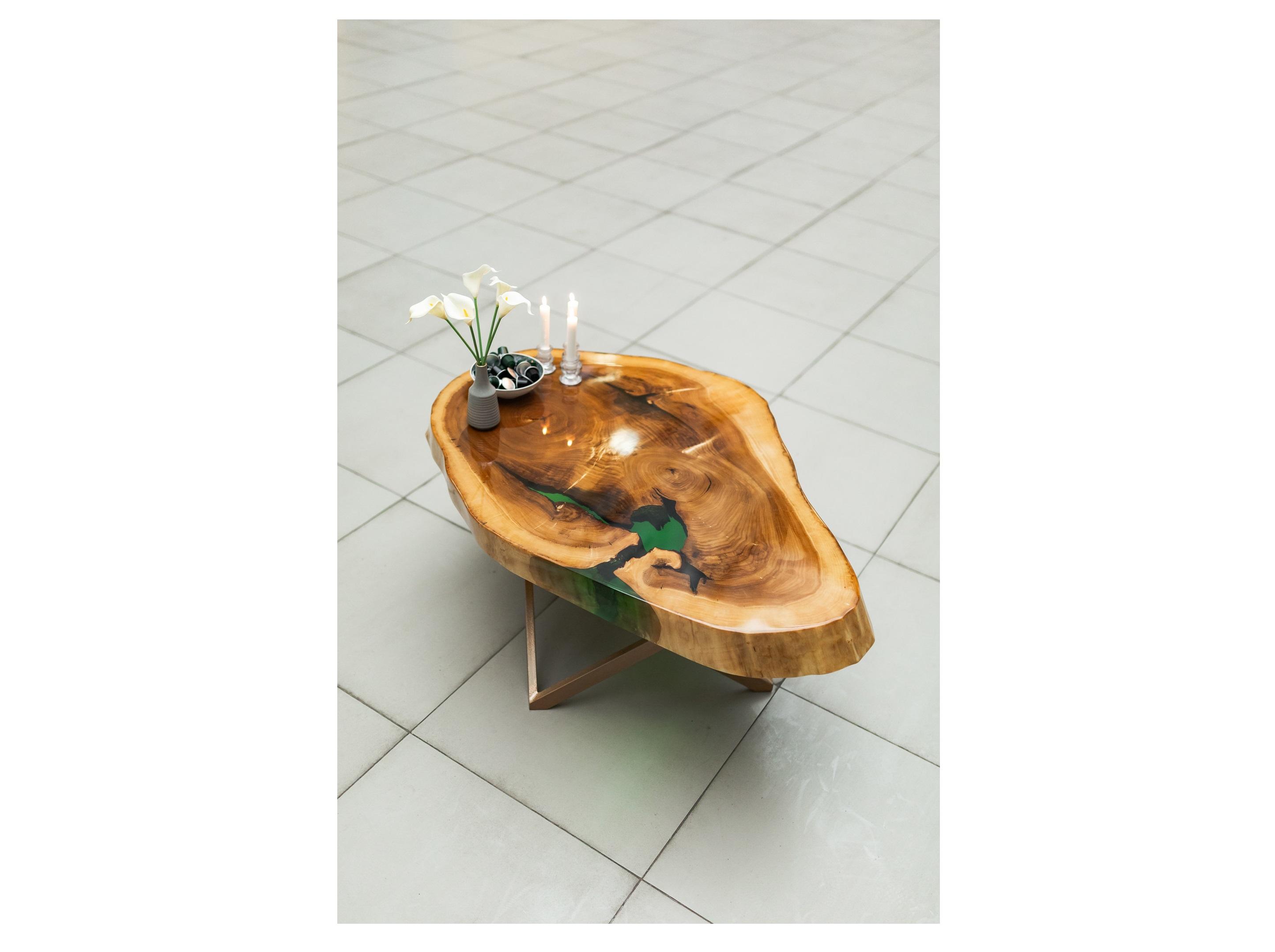 Журнальный стол (woodzpro) коричневый 80x45x120 см.