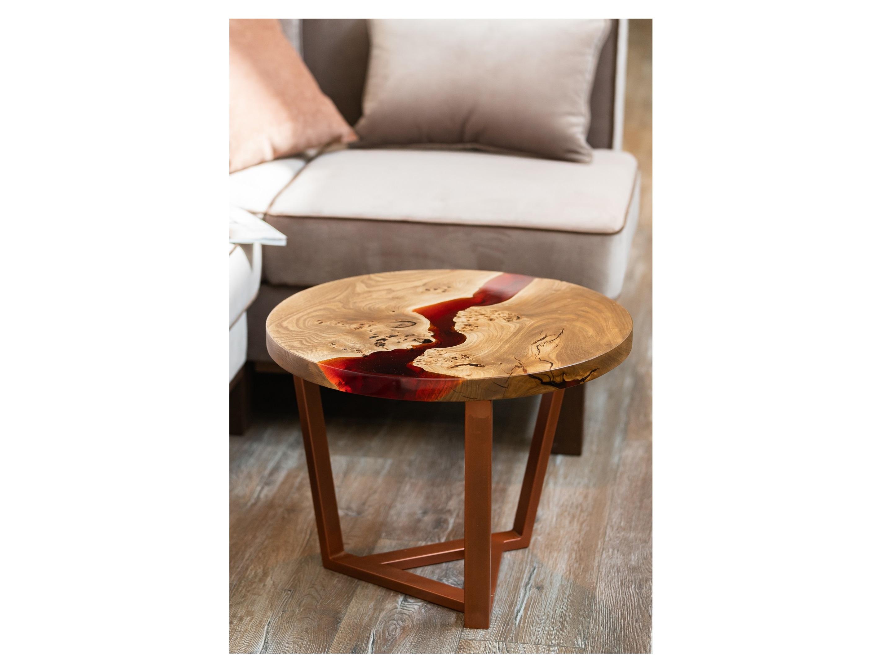 Журнальный стол (woodzpro) коричневый 50x45 см.