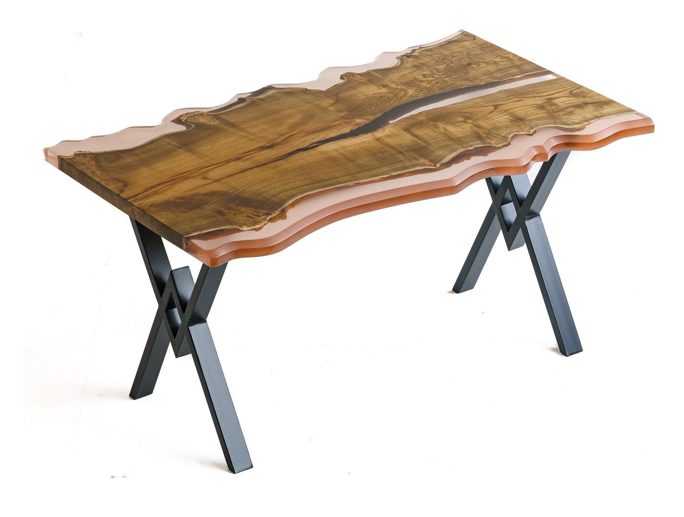 Обеденный стол (woodzpro) коричневый 90x75x145 см.