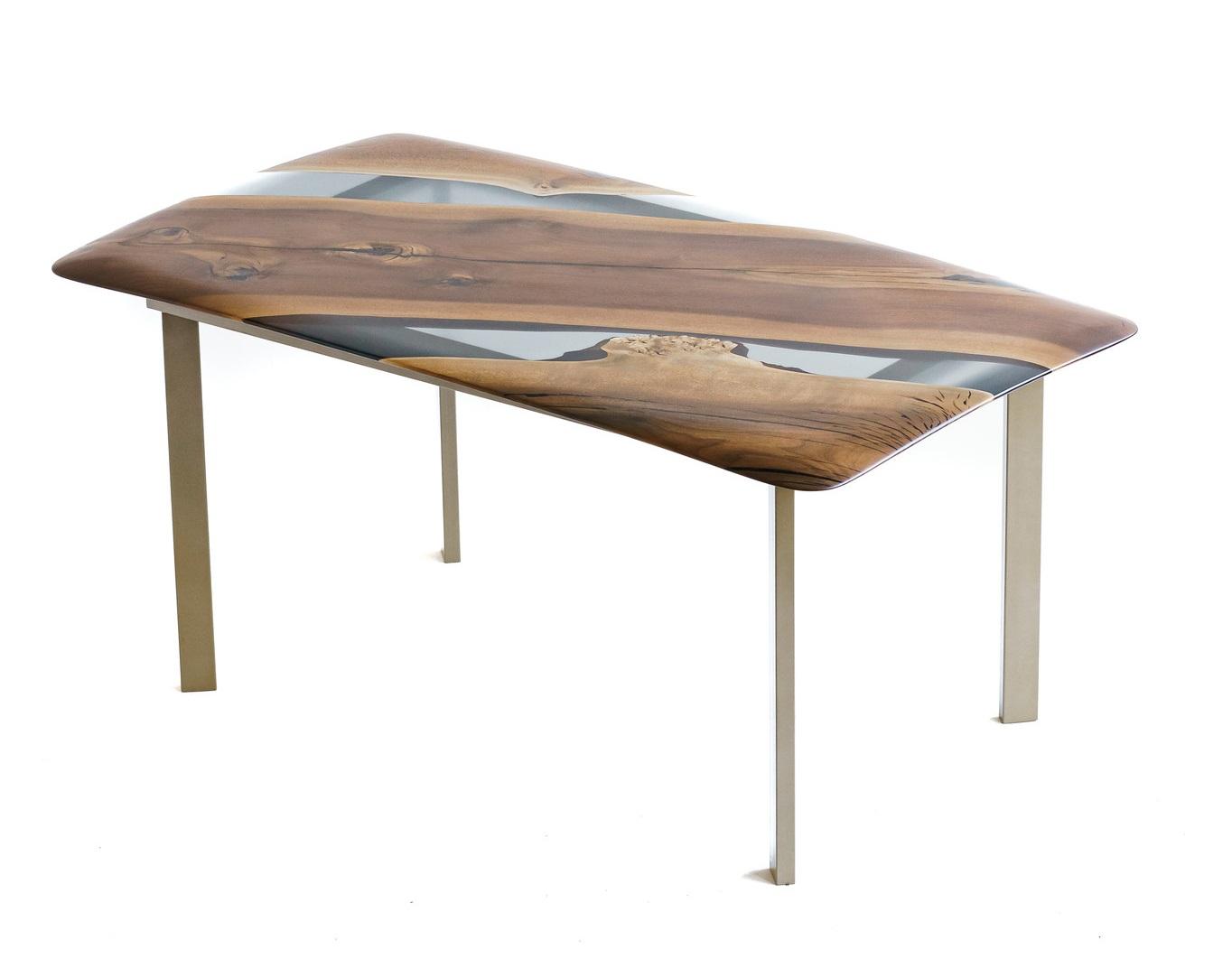 Обеденный стол (woodzpro) коричневый 90x75x160 см.