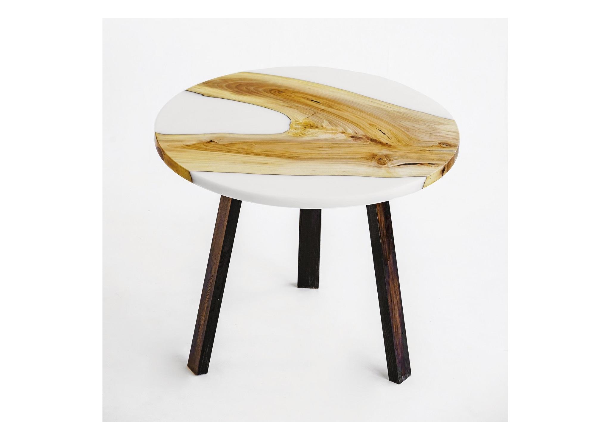 Обеденный стол (woodzpro) коричневый 90x75 см.