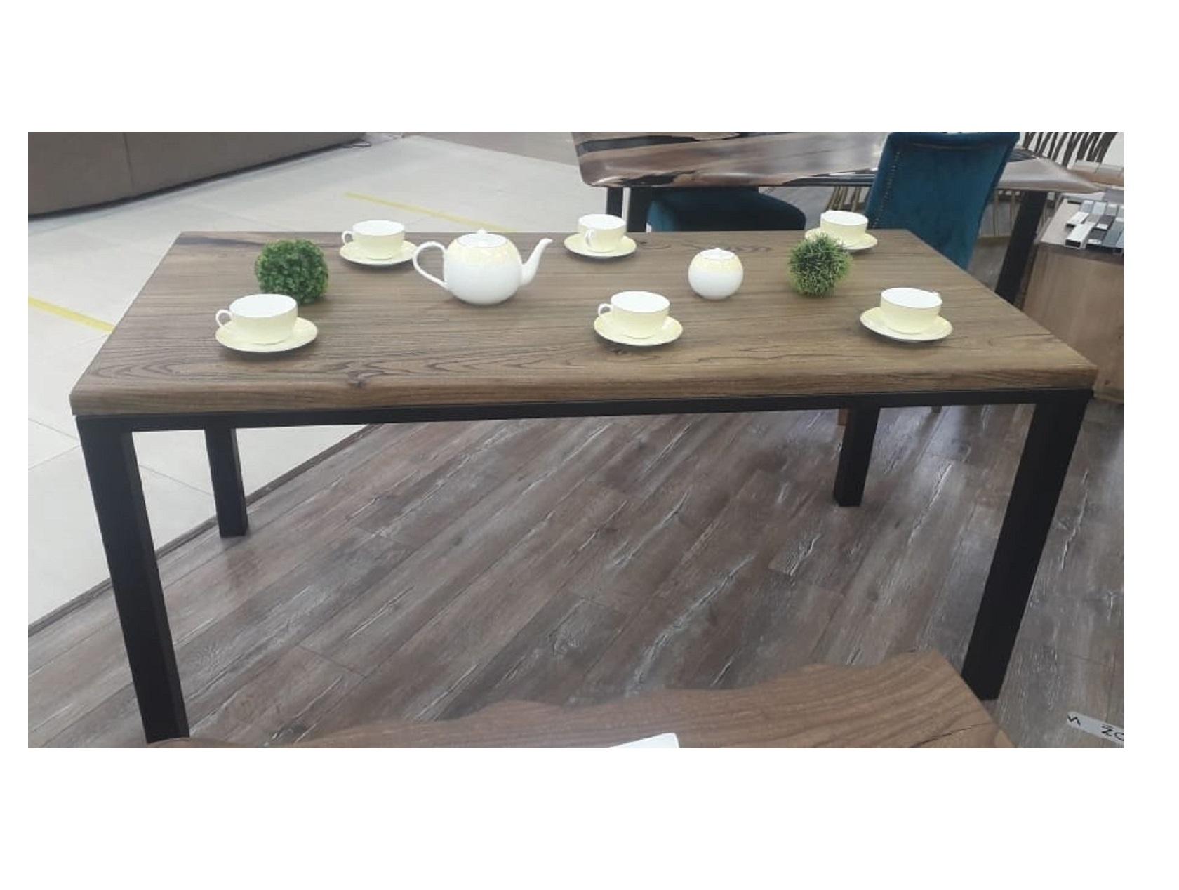 Обеденный стол (woodzpro) коричневый 80x75x170 см.