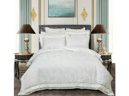 Комплект постельного белья (семейный) (asabella) белый 160x220 см.