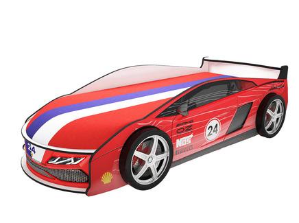 Кровать-машина карлсон ламба (magic cars) красный 85x50x184 см.