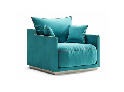 Кресло soho (the idea) голубой 94x71x94 см.