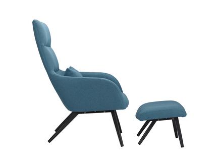 Кресло с подставкой и подушкой berg bridjet (berg) голубой 68x105x58 см.