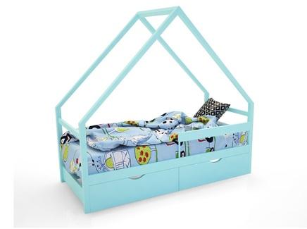Кровать-домик scandi (magic cars) голубой 76x142x165 см.