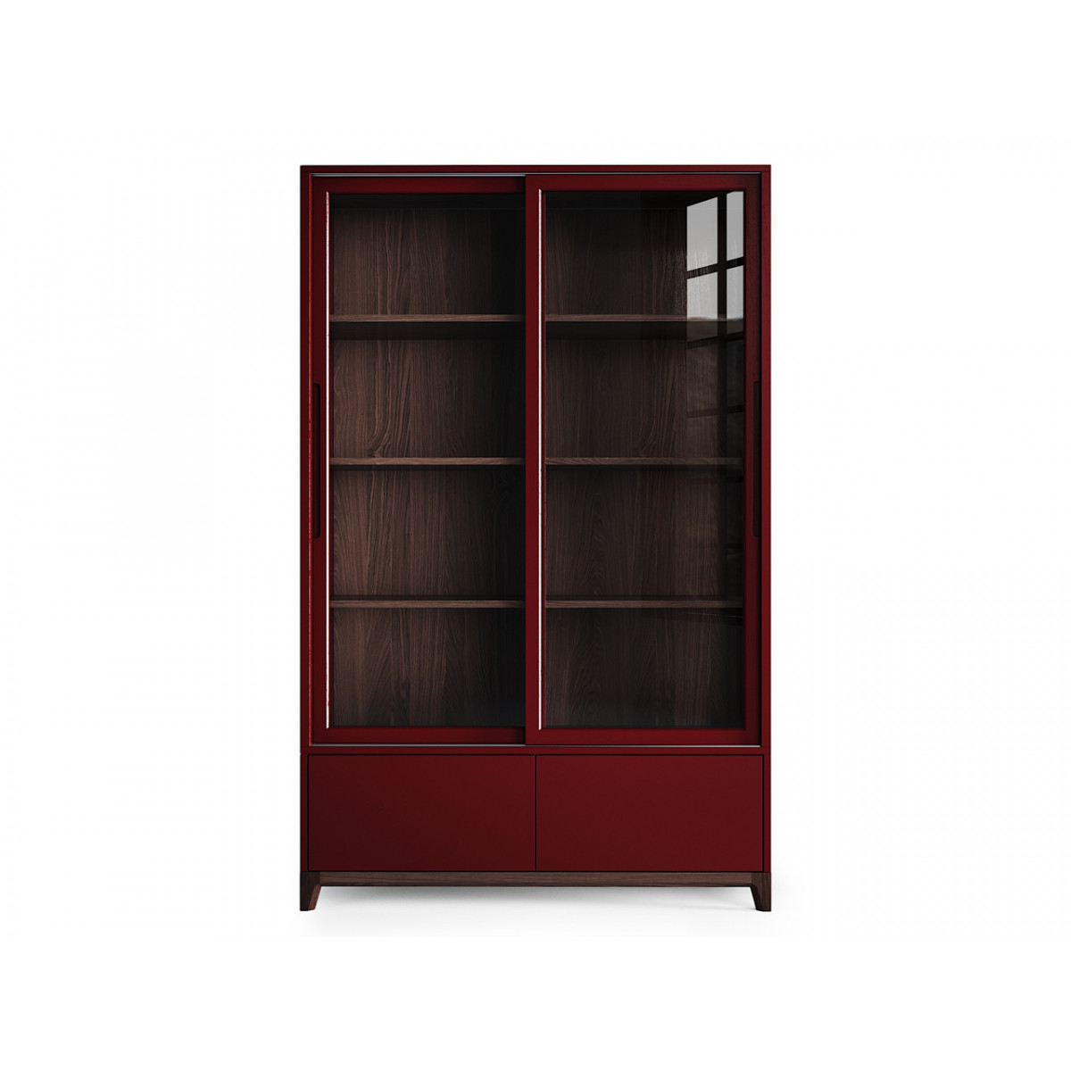 Высокая витрина case (the idea) красный 121x190x45