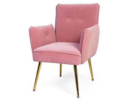 Кресло nelda (desondo) розовый 63x83x62 см.