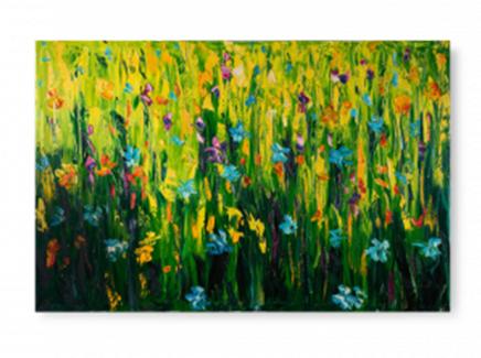 Картина cornfield (desondo) зеленый 150x100 см.