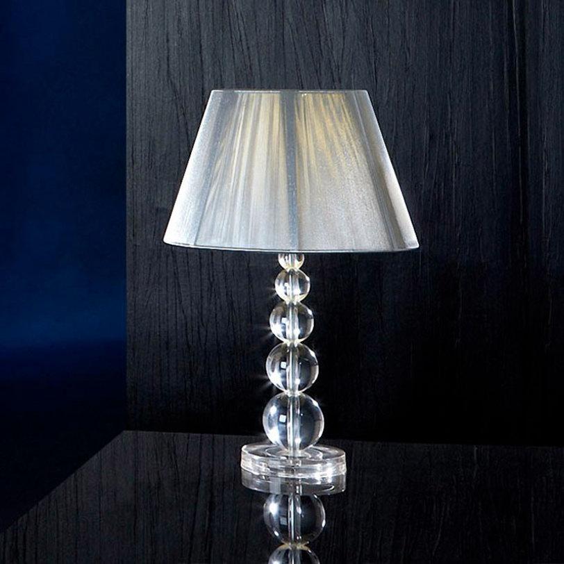 Настольная лампа MercuryДекоративные лампы<br>Настольная лампа &amp;quot;MERCURY&amp;quot; выполнена в виде плетенного из шелковой серебристой тесьмы абажура и основания состоящего из пирамиды шаров, изготовленных из прозрачного метакрилата. Абажур имеет подкладочную ткань.&amp;amp;nbsp;&amp;lt;div&amp;gt;Мощность: 1 x 100 Вт&amp;lt;/div&amp;gt;&amp;lt;div&amp;gt;Цоколь: Е27&amp;lt;/div&amp;gt;<br><br>Material: Пластик<br>Высота см: 55