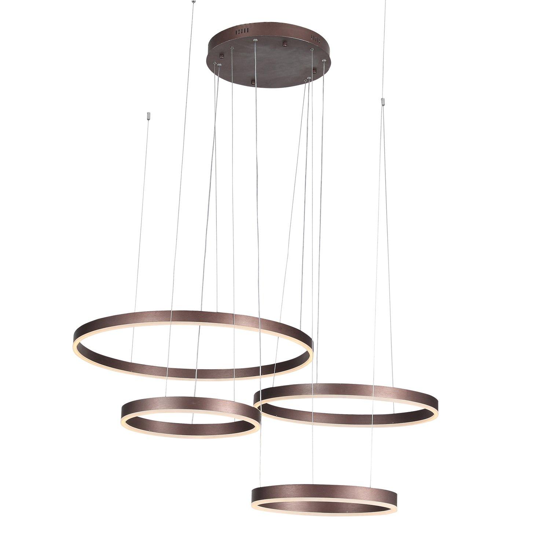 Люстра подвесная onze (st luce) коричневый 230 см.