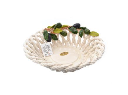 Корзина декоративная круглая оливки (orgia) белый