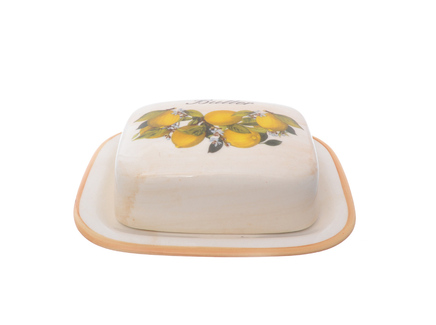 Маслёнка лимоны (lcs) бежевый 16x6x13 см.