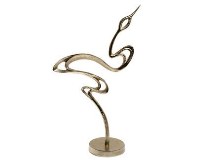 Статуэтка цапля (garda decor) золотой 13x51x30 см.