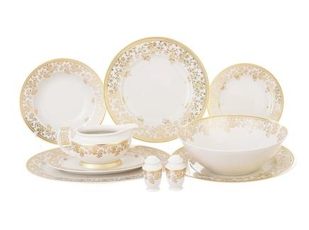 Столовый сервиз constanza cream - sophie gold (falkenporzellan) золотой