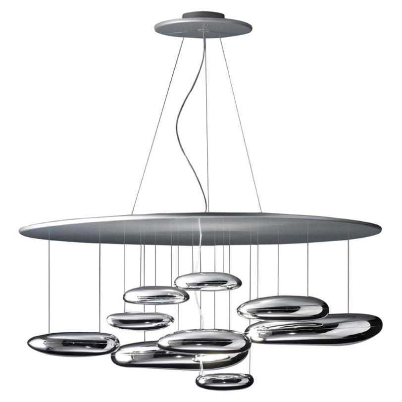 Люстра Mercury SoffittoЛюстры подвесные<br>Элементы с источниками света выполнены из алюминия, отражающие элементы из термопластика, рефлектор с покрытием из нержавеющей стали. Источники света включены в комплект. Высота светильника регулируется до 200 см.&amp;lt;div&amp;gt;&amp;lt;div&amp;gt;Тип лампы: галогенная&amp;lt;/div&amp;gt;&amp;lt;div&amp;gt;Цоколь: R7S&amp;lt;/div&amp;gt;&amp;lt;div&amp;gt;Мощность: 2х160W&amp;lt;/div&amp;gt;&amp;lt;/div&amp;gt;<br><br>Material: Сталь<br>Height см: 60<br>Diameter см: 110