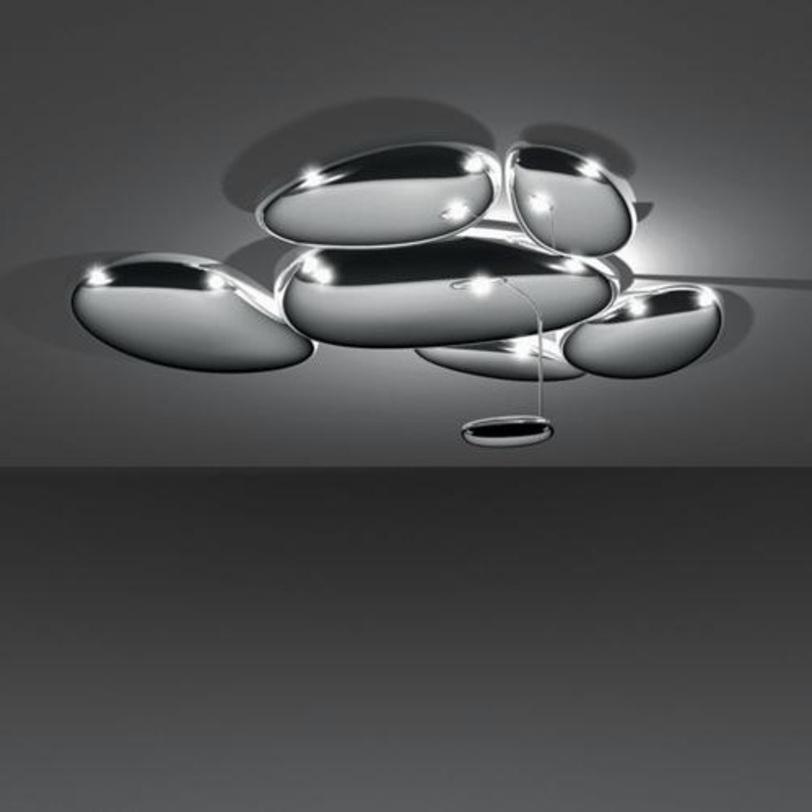 Светильник SkydroПотолочные светильники<br>Это модульная система, которая позволяет добавлять элементы и компоновать их. К базовому набору заказываются дополнительные элементы с монтажным комплектом.<br><br>Цвет: зеркальный хром.<br>Мощность: 1 G8.5 x 70 Вт<br><br>Material: Металл<br>Length см: 143<br>Width см: 136<br>Height см: 42