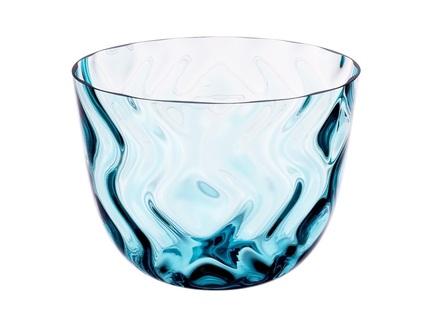 Конфетница optic rhythm (crystalite bohemia) голубой 18 см.