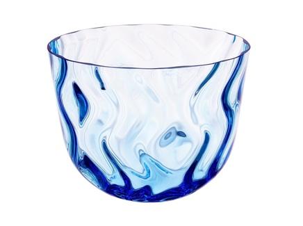 Конфетница optic rhythm (crystalite bohemia) синий 18 см.