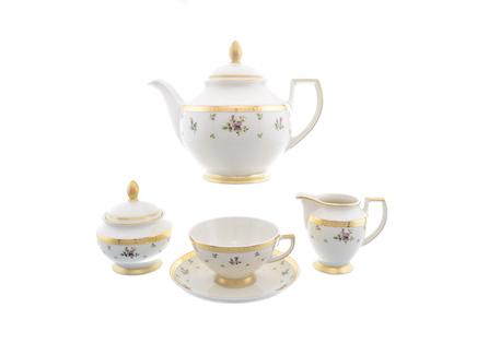 Чайный сервиз constanza cream primavera gold (15 предметов) (falkenporzellan) золотой