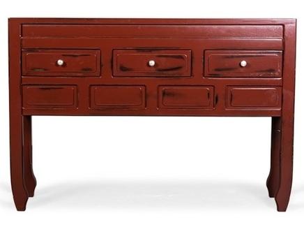 Консоль muotti (desondo) красный 128x88x30 см.