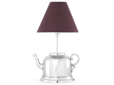 Лампа настольная teapot (desondo) серебристый 30x49x25 см.