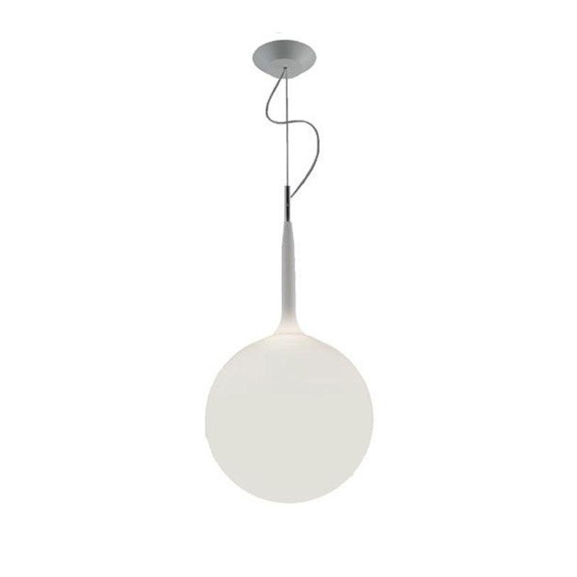 Светильник CastoreПодвесные светильники<br>Сфера рассеивателя держится на светящихся стеблях, которые регулируются приятным переходом от яркого рассеянного света к приглушенному. Термопласт и выдувное стекло.<br><br>Длина подвеса достигает 249 см.<br>Мощность: 1 Е27 x 150 Вт<br><br>Material: Стекло<br>Высота см: 99