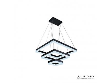 Подвесная люстра iledex twins (iledex) черный 60x131x60 см.
