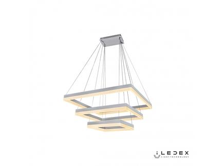 Подвесная люстра iledex twins (iledex) белый 80x135x80 см.