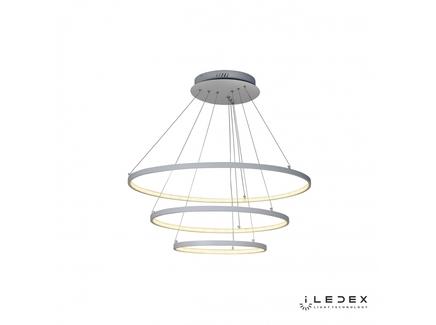 Подвесная люстра iledex axis (iledex) белый 111 см.