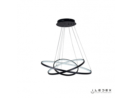 Подвесная люстра iledex axis (iledex) черный 111 см.