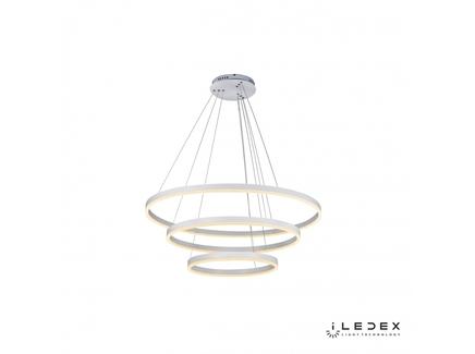Подвесная люстра iledex orion (iledex) белый 35 см.