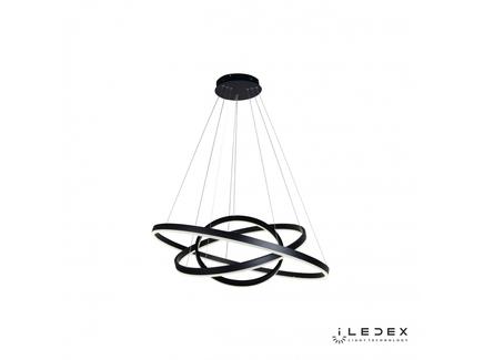 Подвесная люстра iledex orion (iledex) черный 125 см.