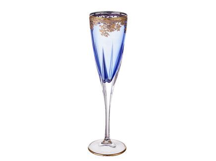 Фужер для шампанского rcr trends (rcr) голубой