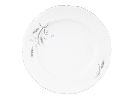 Блюдо круглое серебряные колосья (repast) белый