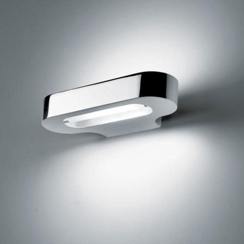 Бра Talo parete Halo - Polished chromeБра<br>Окрашенный литой алюминий. Цвет зеркальный хром<br><br>Мощность: 1 R7S x 120 Вт<br><br>Material: Алюминий<br>Width см: 21.0<br>Depth см: 10.0<br>Height см: 3.4