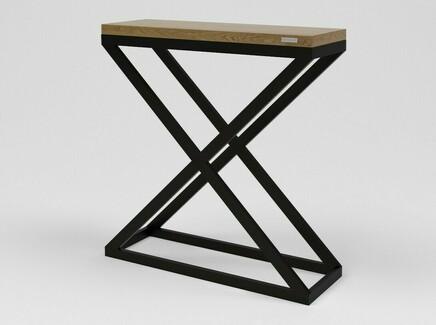 Консоль лофт (kovka object) коричневый 90.0x94.0x30.0 см.
