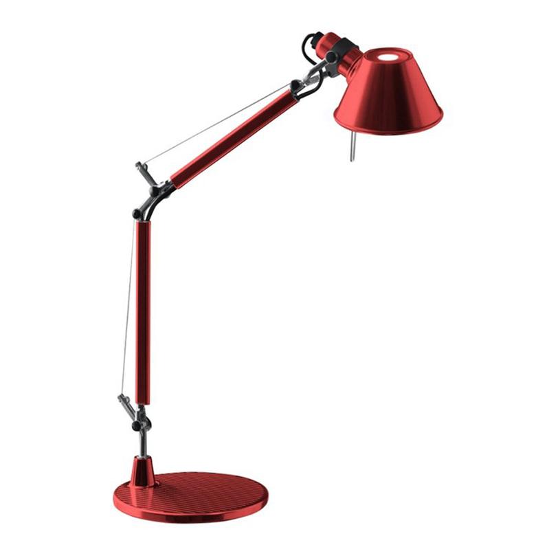 Настольная лампа Tolomeo micro tavolo - Halo Anodized redНастольные лампы<br>Основание и суставы корпуса из полированного алюминия, рассеиватель из анодированного матового алюминия; цвет - красный металлик. Система пружинной балансировки. Регулируемые размеры в зависимости от положения. Настольное основание идет в комплекте.<br><br>Мощность: 1 E14 x 60 Вт<br><br>Material: Алюминий<br>Length см: None<br>Width см: 69.0<br>Depth см: None<br>Height см: 73.0<br>Diameter см: 17.0