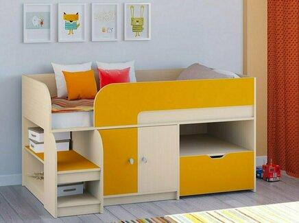Кровать-чердак астра 9/4 (рв-мебель) оранжевый 163.2x99x90 см.