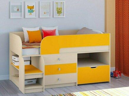 Кровать-чердак астра 9/5 (рв-мебель) оранжевый 163.2x99x90 см.