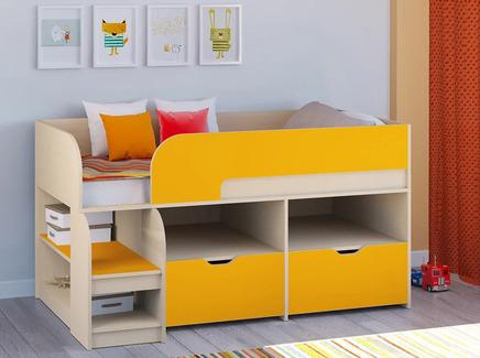 Кровать-чердак астра 9/6 (рв-мебель) оранжевый 163.2x99x90 см.