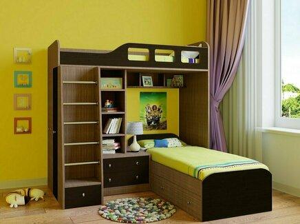 Кровать двухъярусная астра (рв-мебель) коричневый 198.2x198.2x187 см.
