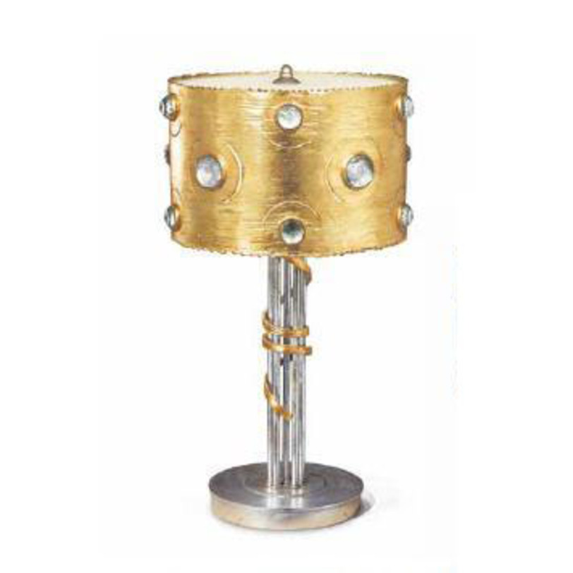 Настольная лампа EyesДекоративные лампы<br>Фольгирование, ручная ковка, хрусталь Swarovski.<br><br>Мощность: 3 Е27 x 60 Вт<br><br>Material: Металл<br>Height см: 58<br>Diameter см: 34