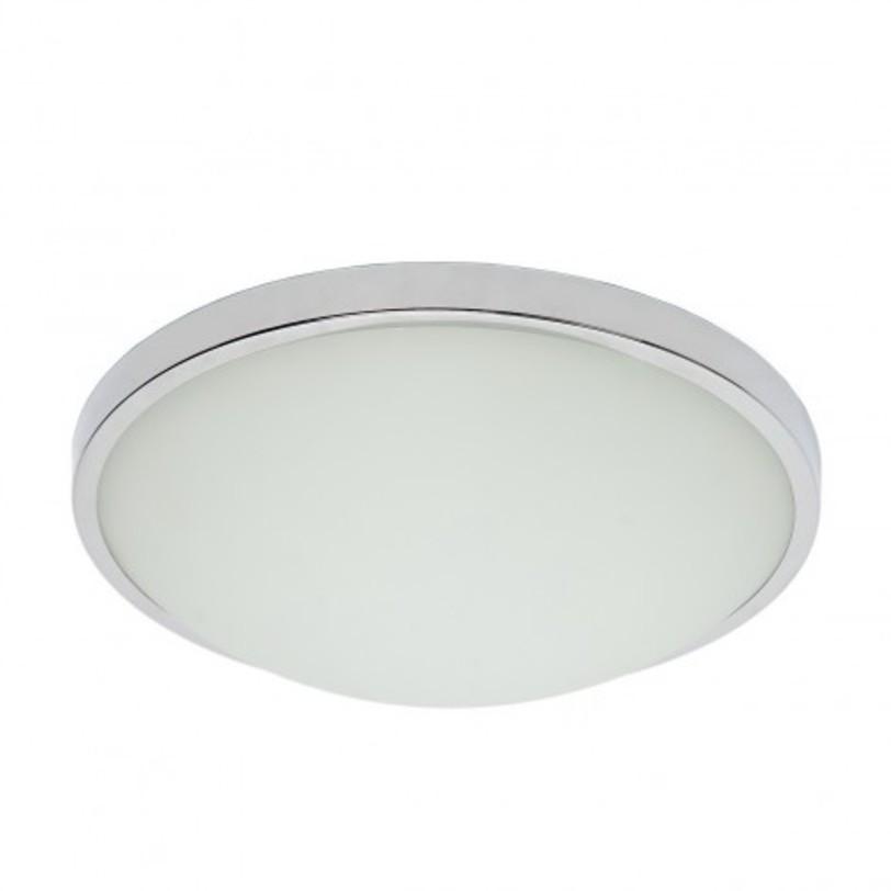 Потолочный светильник КрузПотолочные светильники<br>Металлическое основание цвета хрома, плафоны из матового стекла.<br>2*23W (только энергосб) E27 IP44 220 V<br><br>Material: Стекло<br>Height см: 10<br>Diameter см: 32